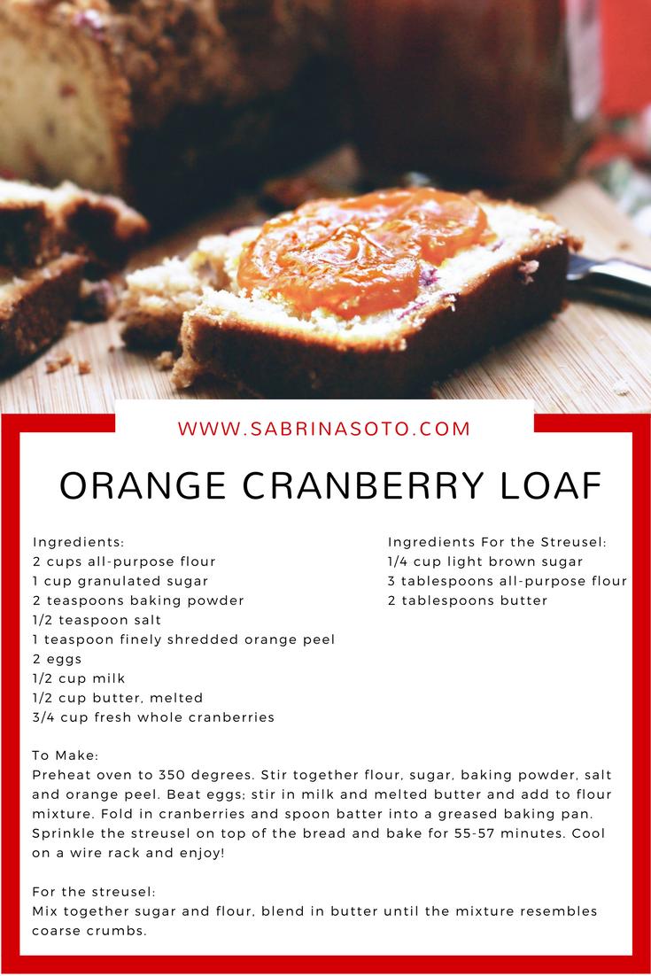 SS- Orange Cranberry Loaf